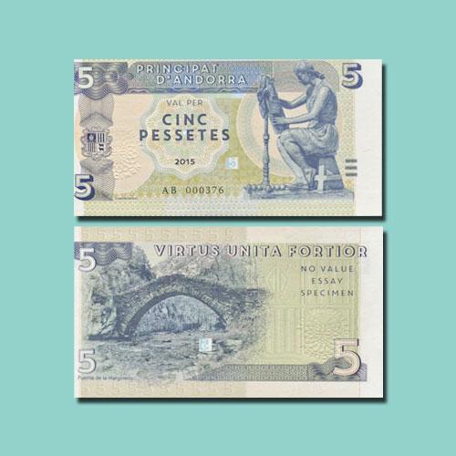Andorra-5-Pessetes-banknote-of-2015
