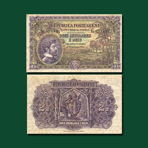 Angola-2-1/2-Angolares-banknote-of-1926-Republica-Portuguesa