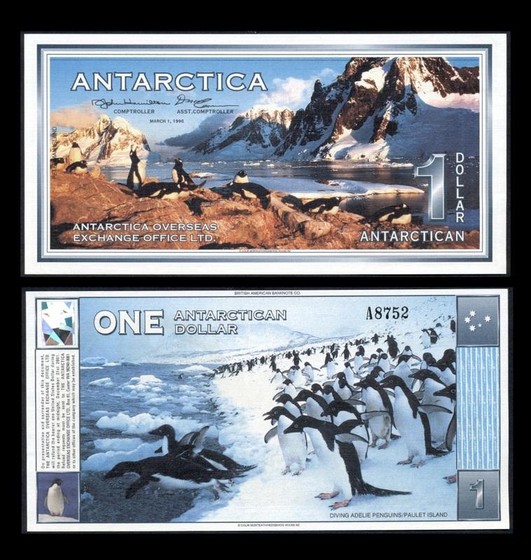 Antarctica-1-Dollar-banknote-of-1996