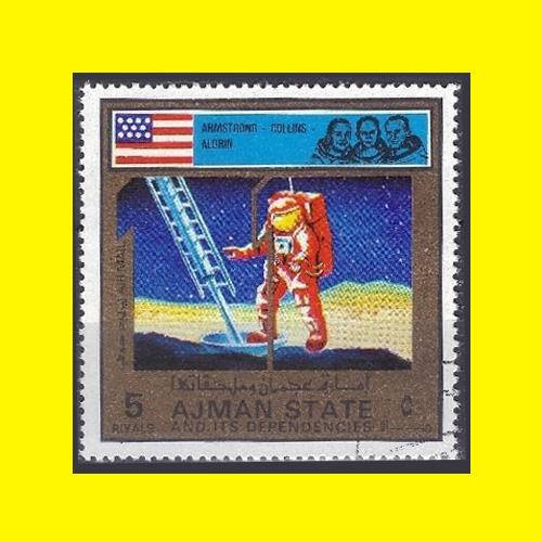 Apollo-Program-Stamp-of-Ajman-City