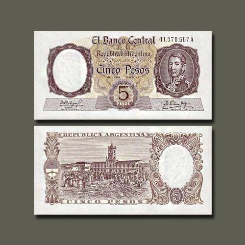 Argentina-5-Pesos-banknote-of-1960-62