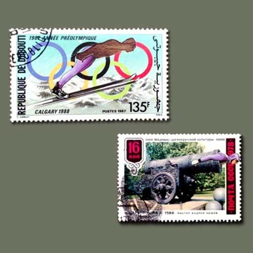 Art-on-postage-stamp