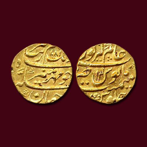 Aurangzeb-Gold-Mohur-Listed-For-INR-1,00,000