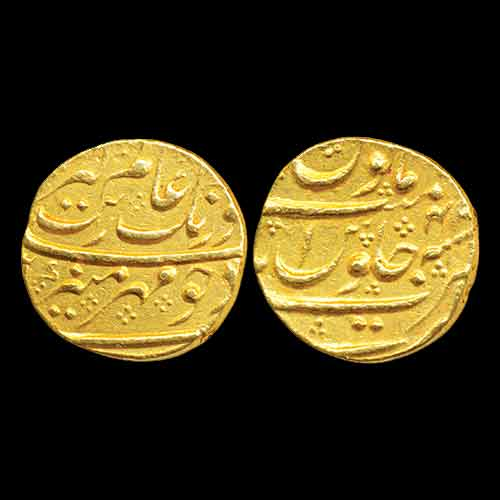 Aurangzeb's-Gold-Mohur-listed-For-INR-75,000
