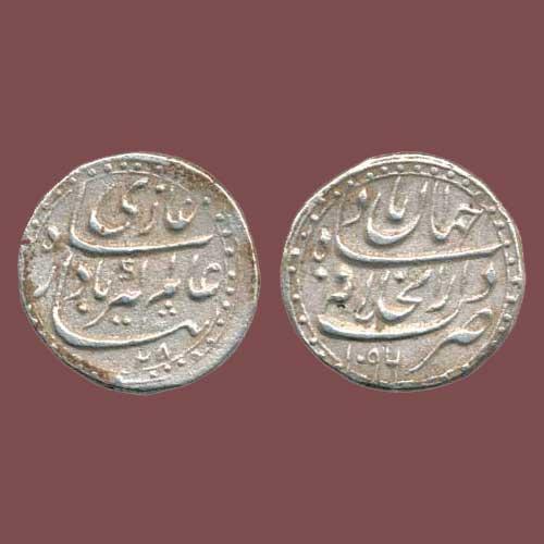 Aurangzeb's-Silver-Half-Rupee
