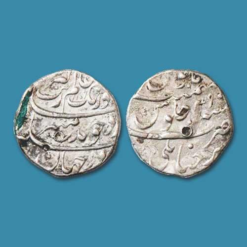 Aurangzeb's-silver-Rupee-of-Trichanapali-mint