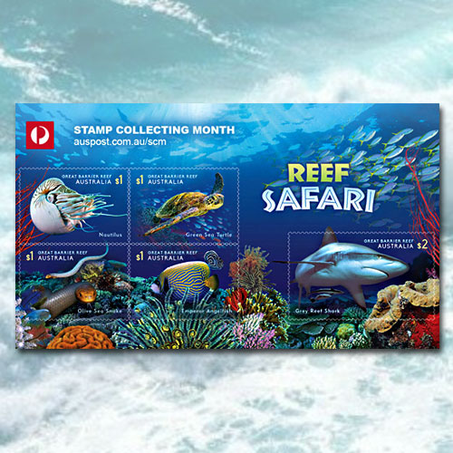 Australia-Post-illustrated-Reef-Safari-on-stamps
