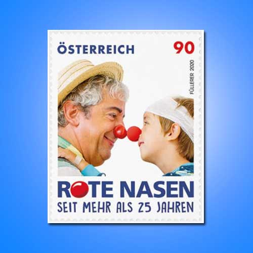Austria-Post's-Red-Noses-Stamp