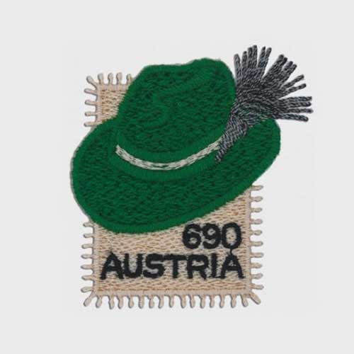 Austria's-Embroidered-Stamp-Depicts-Syrian-Hat