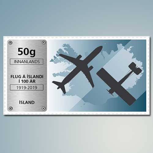 Aviation-on-Iceland-stamps