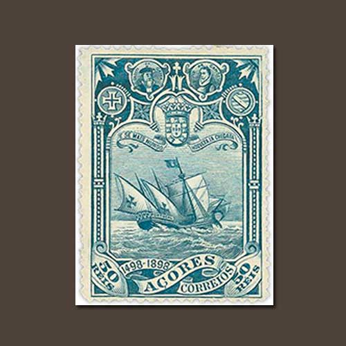 Azores's-1898-Vasco-da-Gama-Stamps-Set