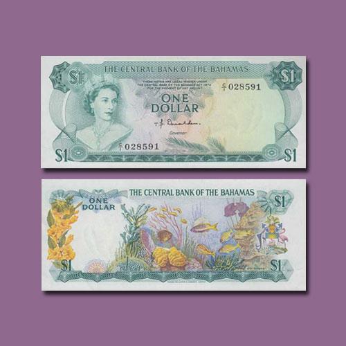 Bahamas-1-Dollar-banknote-of-1968