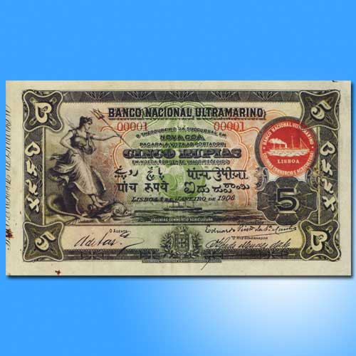 Banco-Nacional-Ultramarino-Banknotes-of-1906