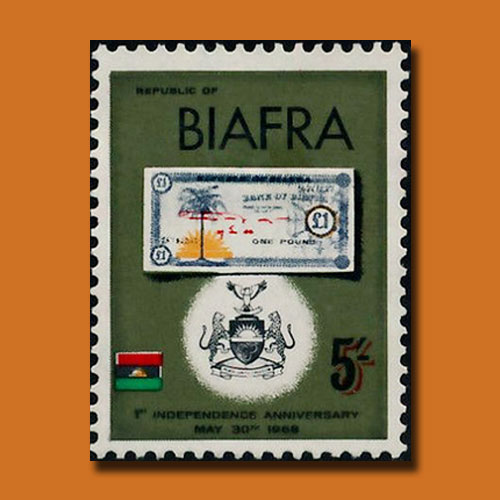 Banknote-Stamp-of-Biafra