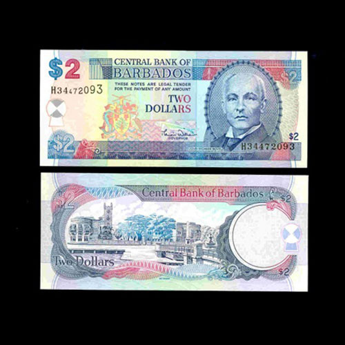 Barbados-2-Dollar-banknote