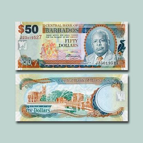 Barbados-50-Dollars-banknotes-of-2007