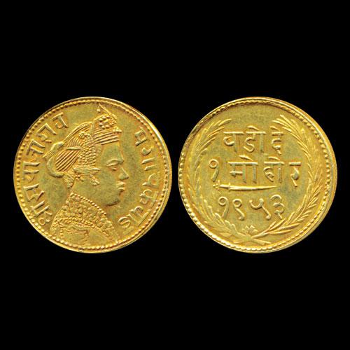 Baroda-Gold-Mohur-Listed-For-INR-1,60,000