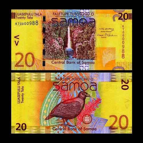 Beautiful-20-Tala-Banknotes-of-Samoa