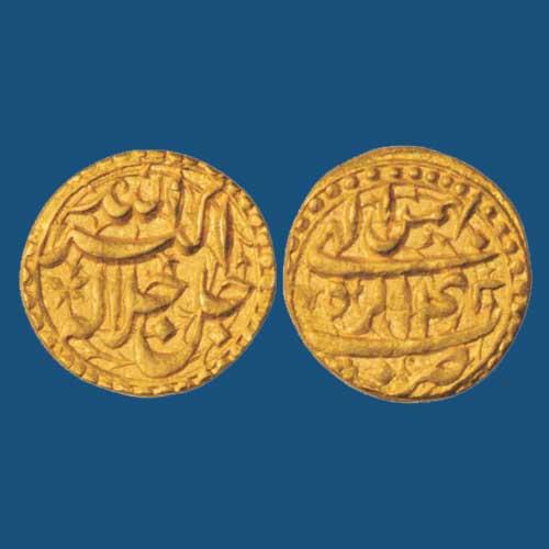 Beautiful-gold-Mohur-of-Akbar