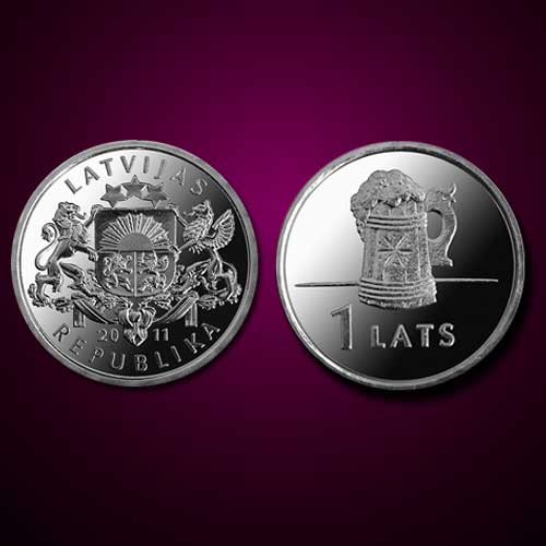 Beer-Mug-on-a-Latvijan-Coin