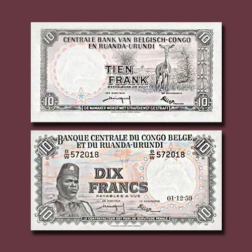 Belgian-Congo-10-Francs-banknote-of-1955-1959