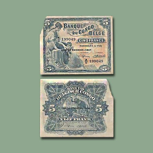 Belgian-Congo-5-Francs-banknote-of-1947