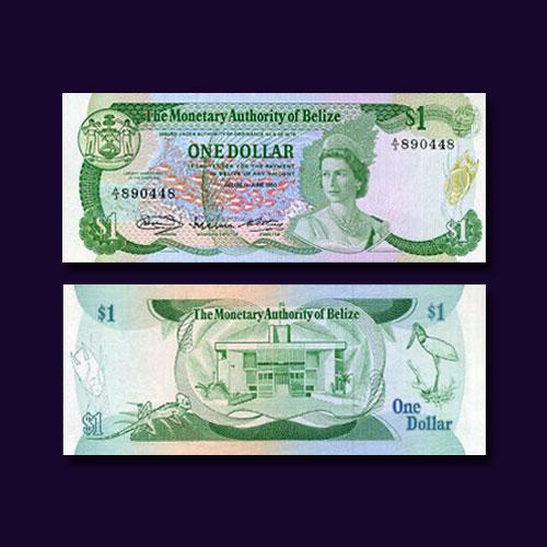Belize-1-Dollar-banknote-of-1980