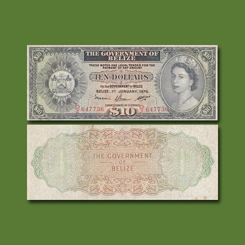 Belize-10-Dollars-banknote-of-1976