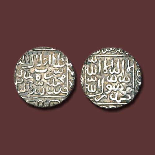 Bengal-Sultan-Ghiyath-Al-Din-Jalal-Shah's-Silver-Rupee