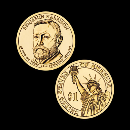 Benjamin-Harrison-Commemorative-Coin