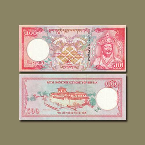 Bhutan-500-Ngultrum-banknote-of-2000