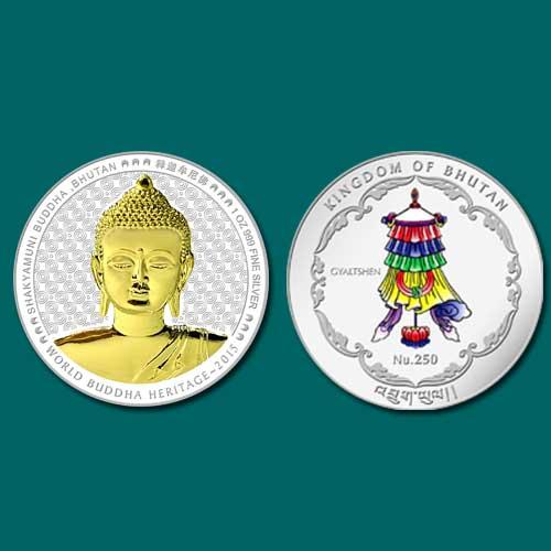 Bhutan-Coin-Depicts-Shakyamuni-Buddha