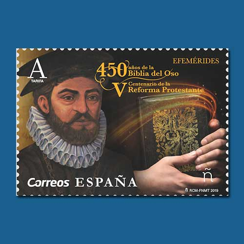 Bible-translator-on-Spanish-Stamp