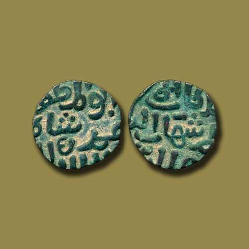 Billon-Six-Ghani-of-Delhi-Sultan-Shihab-Al-Din-Umar-(Khalji-Sultan)