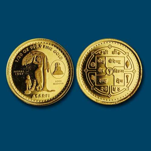 Birth-of-Buddha-on-Nepal-Coin