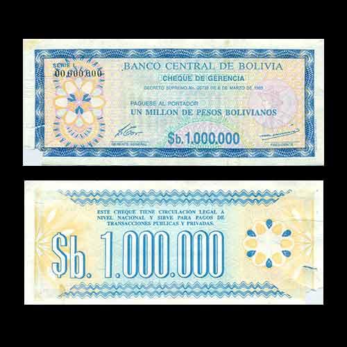 Bolivia-1-Million-Pesos-Banknote-of-1985