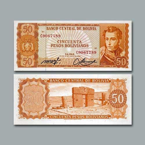 Bolivia-50-Pesos-Bolivianos-banknote-of-1962