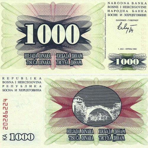 Bosnia-and-Herzegovina-1000-Dinara-banknote-of-1992