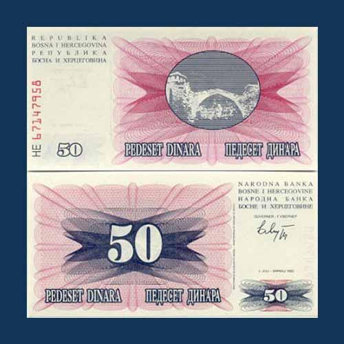 Bosnia-and-Herzegovina-50-Dinara-banknote-of-1992
