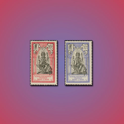 Brahma-on-Stamps-of-French-India