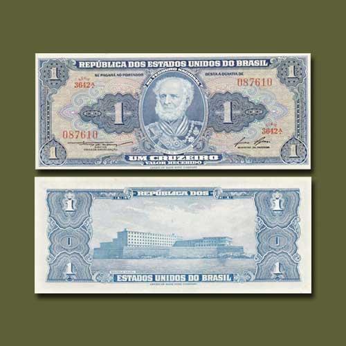 Brazil-1-Cruzeiro-banknote-of-1954-58