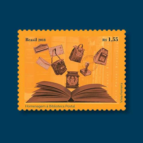 Brazil-Honors-Postal-Library-with-a-Stamp