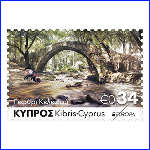 Bridges-on-the-stamp-of-Cyprus