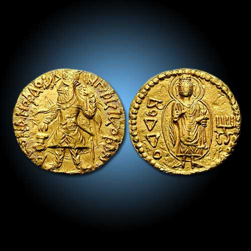 Buddha-on-Kushan-Coins