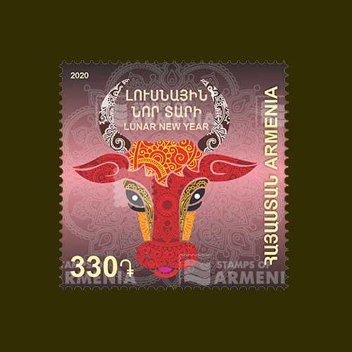 Bull-on-Stamp