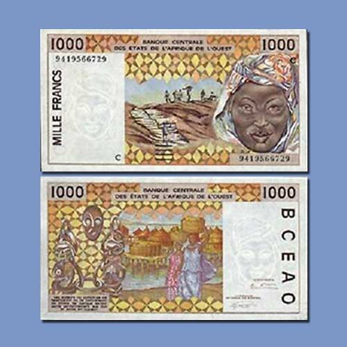 Burkina-Faso-1000-Francs-banknote-of-1998