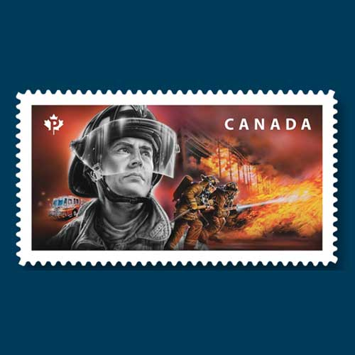Canadian-Firefighters-Honoured-on-Postage-Stamps