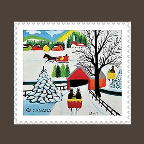 Canadian-Holiday-Stamp-Honoring-Maud-Lewis