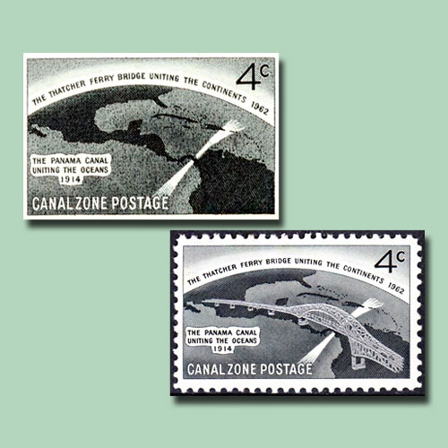 Canal-Zone's-'Thatcher-Ferry-Bridge'-Error-Stamp