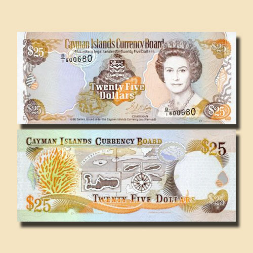 Cayman-Islands-25-Dollars-banknote-of-1996